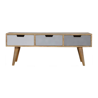 Handcrafted Media Unit With 3Tone  Drawers - HM_FURNITURE