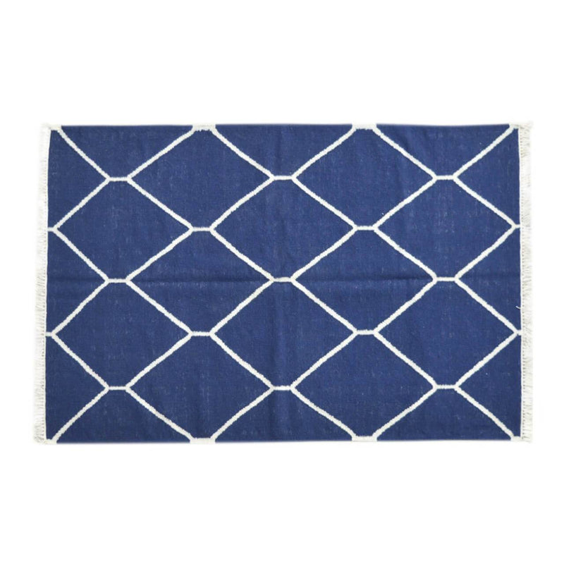 Hand Tufted 100% Cotton Navy Rug - HM_FURNITURE
