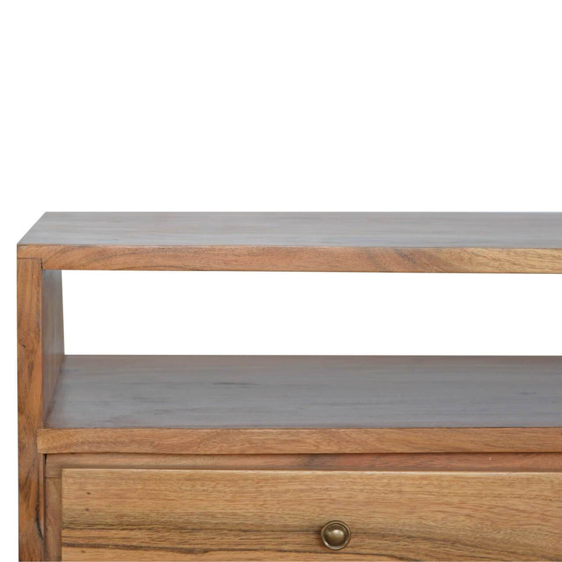 Handcrafted Media Unit With 2 Drawers and Iron Legs - HM_FURNITURE