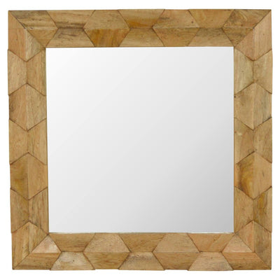 Handcrafted Solid Wood Mirror With Hand Carved Pineapple Patterns - HM_FURNITURE
