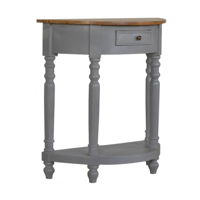 Handcrafted Grey Painted Console Table - HM_FURNITURE