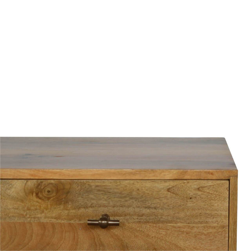 Handcrafted Double Base Media Unit With 2 Drawers and 2 Open Slots - HM_FURNITURE
