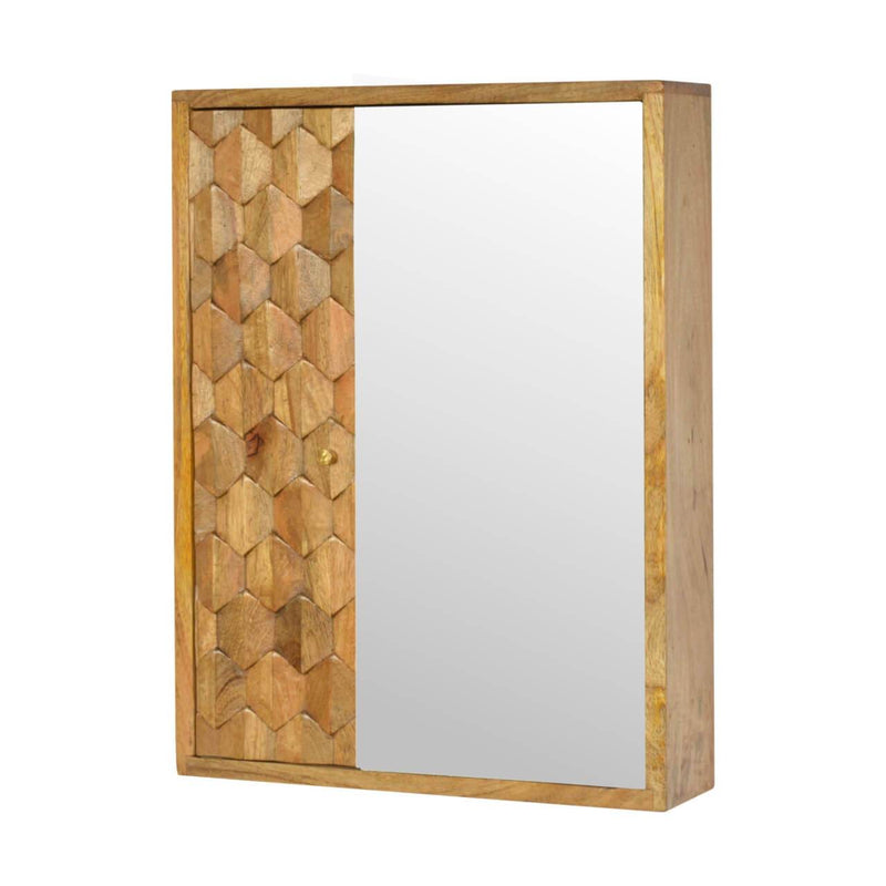 Handcrafted Sliding Wall Cabinet Mirror - HM_FURNITURE
