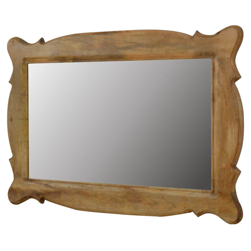 Handcrafted Distressed Oak-Finish Mirror - HM_FURNITURE