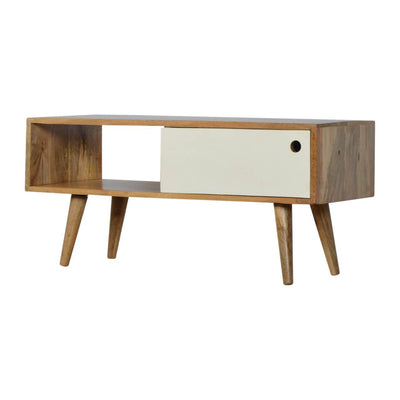 Handcrafted Media Unit With 1 Painted Drawer - HM_FURNITURE