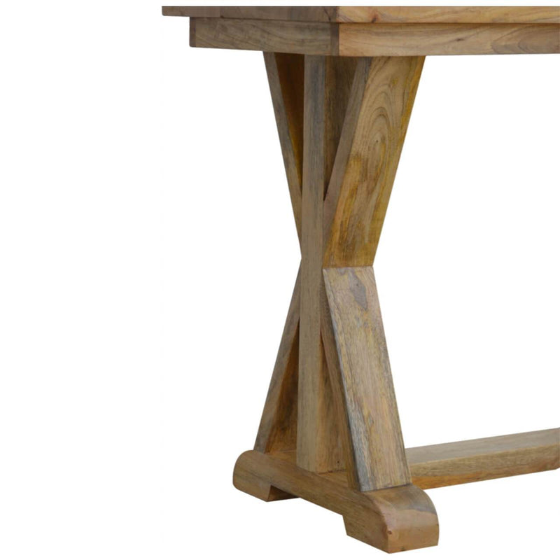 Handcrafted Trestle Console Table - HM_FURNITURE