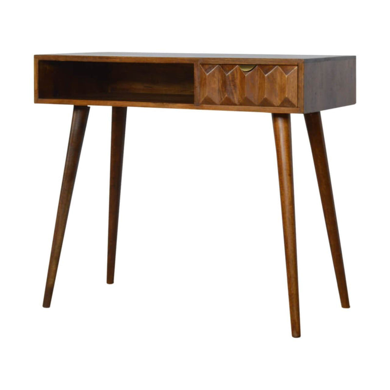 Handcrafted Chestnut Prism Writing Desk - HM_FURNITURE