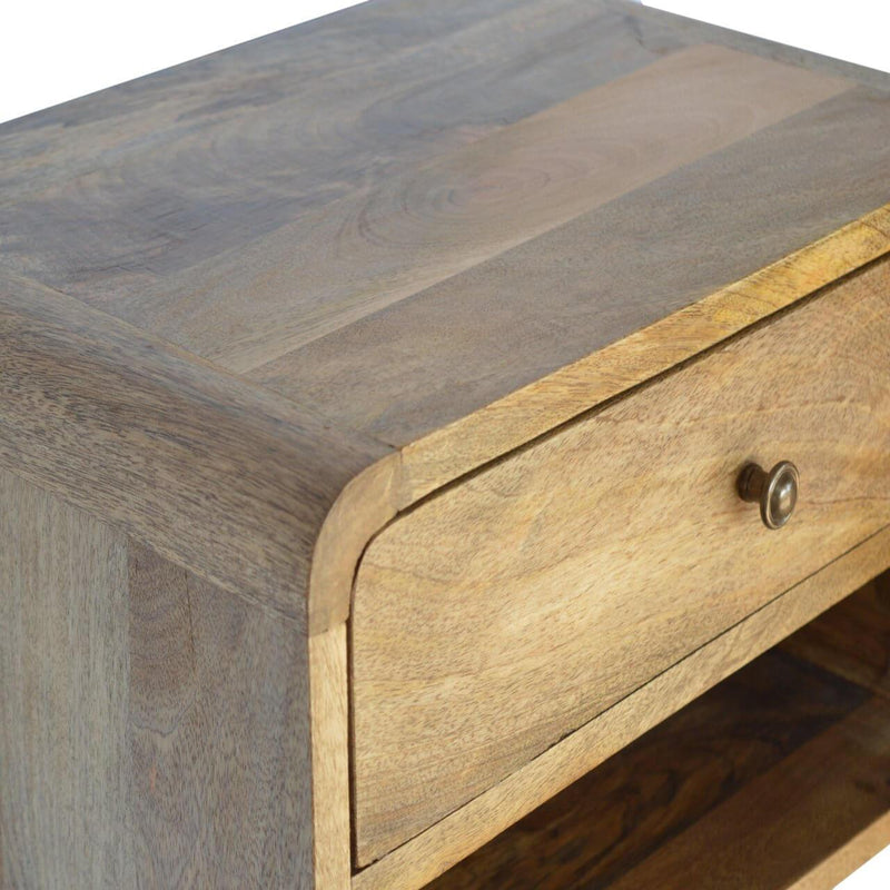 Handcrafted Wall Mounted Bedside With 1 Drawer - HM_FURNITURE