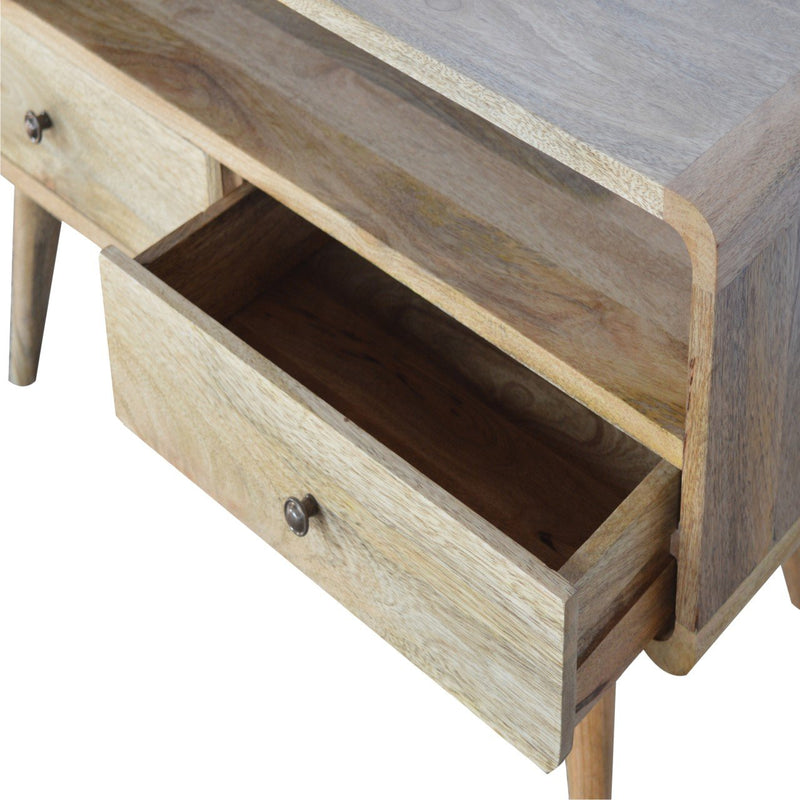 Handcrafted Media Unit With 2 Drawers and 1 Large Open Slot - HM_FURNITURE