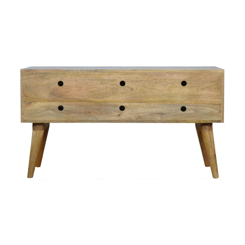 Handcrafted Storage Bench With 2 Compartments - HM_FURNITURE