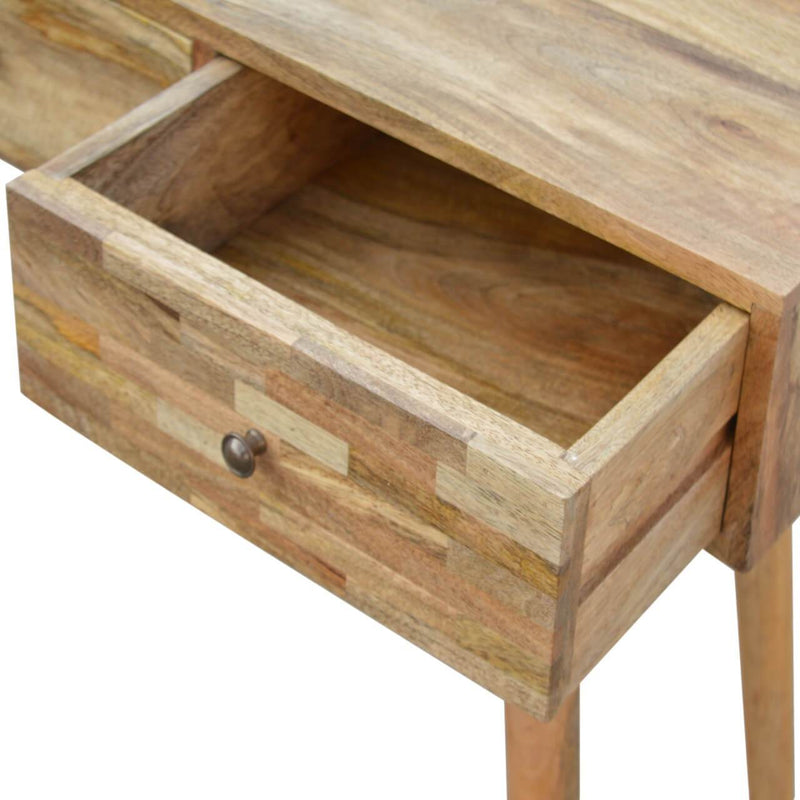 Handcrafted Patchwork Console Table With 3 Drawers - HM_FURNITURE