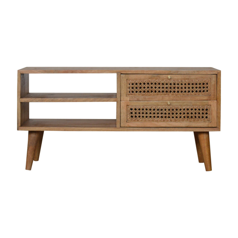 Agnar - 2 Drawer Media Unit, Rattan