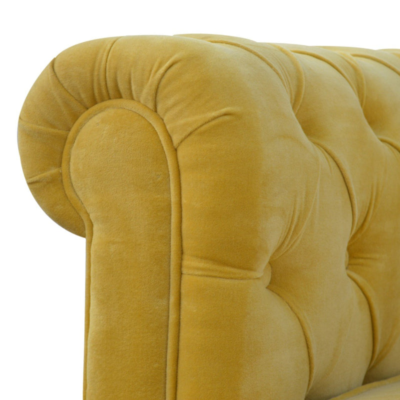 Handcrafted Mustard Velvet Sofa - HM_FURNITURE