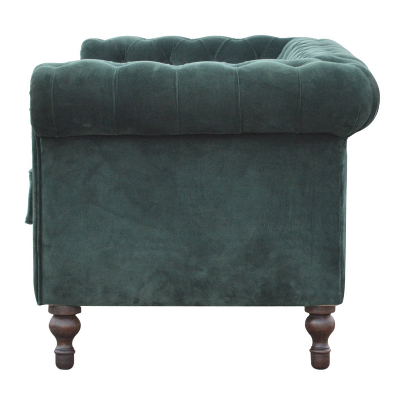 Handcrafted Emerald Green Velvet Sofa - HM_FURNITURE