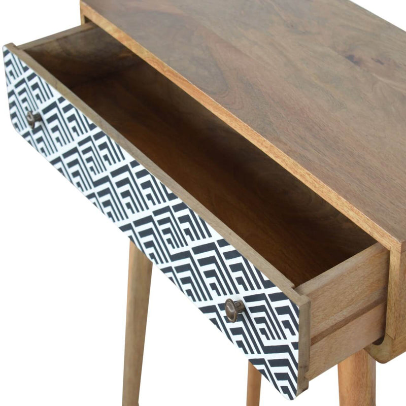 Handcrafted Console Table With Monochrome Drawer - HM_FURNITURE