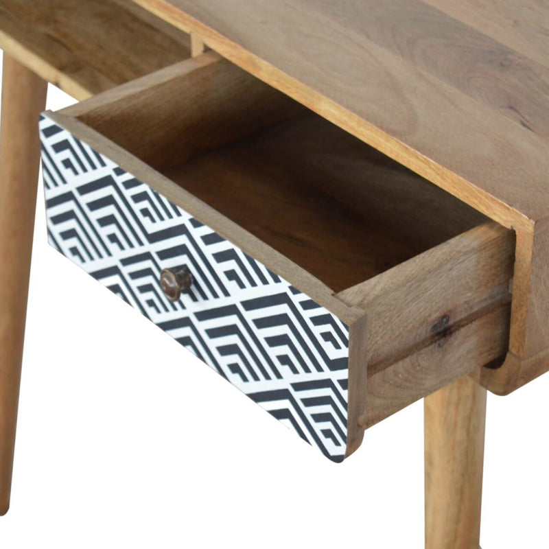 Handcrafted Desk With Monochrome Drawer and 1 Open Slot - HM_FURNITURE