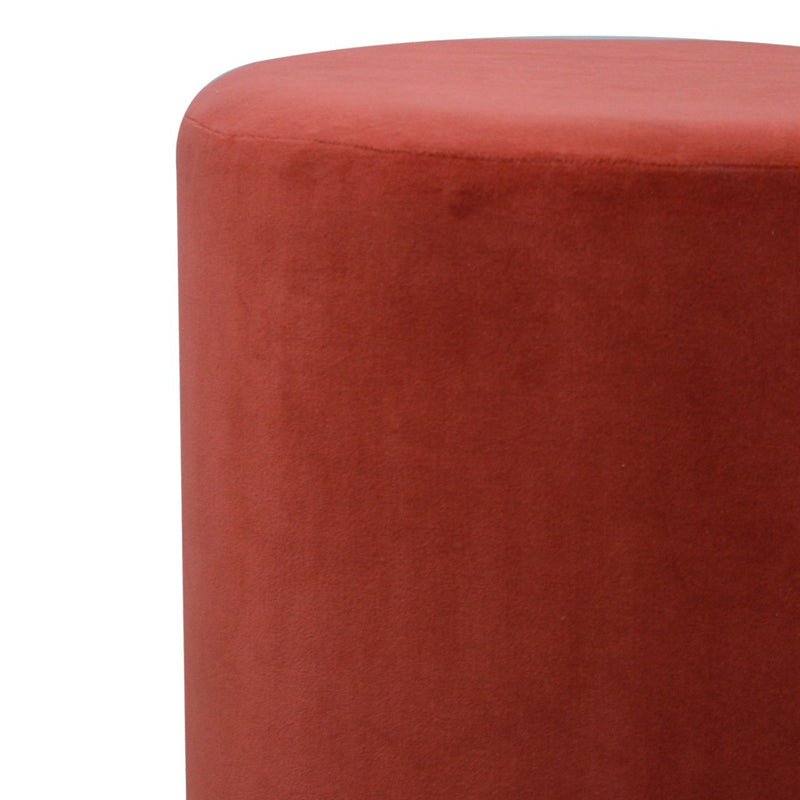 Handcrafted Red Velvet Foot Stool - HM_FURNITURE