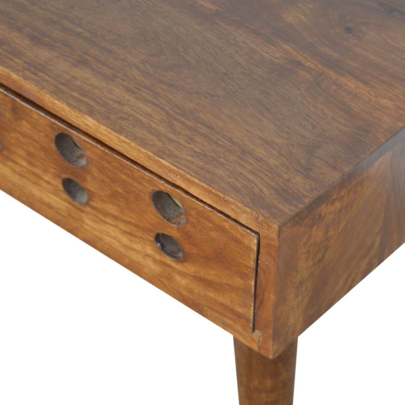 Handcrafted Brass Inlay Bedside Table - HM_FURNITURE
