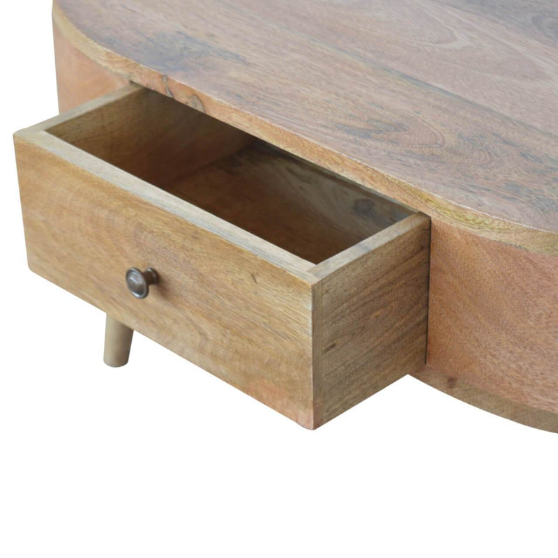 Handcrafted London Coffee Table With 2 Drawers - HM_FURNITURE