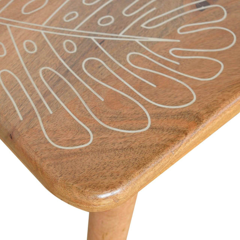 Handcrafted Leaf Resin Printed Bench - HM_FURNITURE