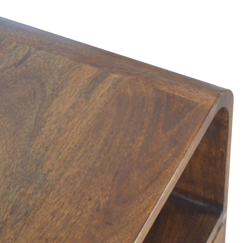 Handcrafted Bedside Table With 1 Drawer And 2 Shelves - HM_FURNITURE
