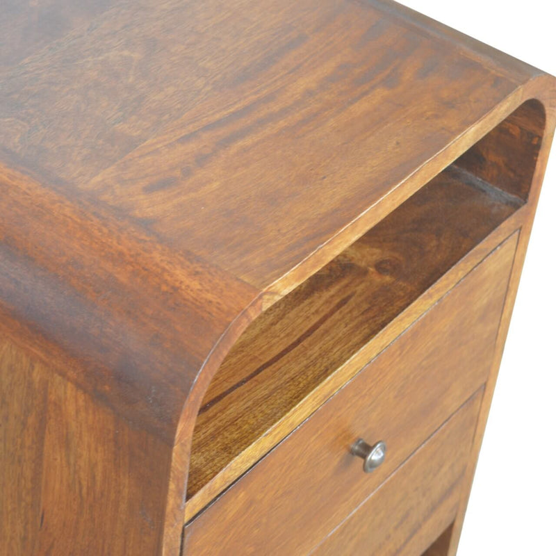 Handcrafted Bedside Table With 2 Drawers - HM_FURNITURE