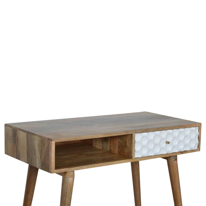 Handcrafted Honeycomb Desk With 1 Drawer and 1 Open Slot - HM_FURNITURE