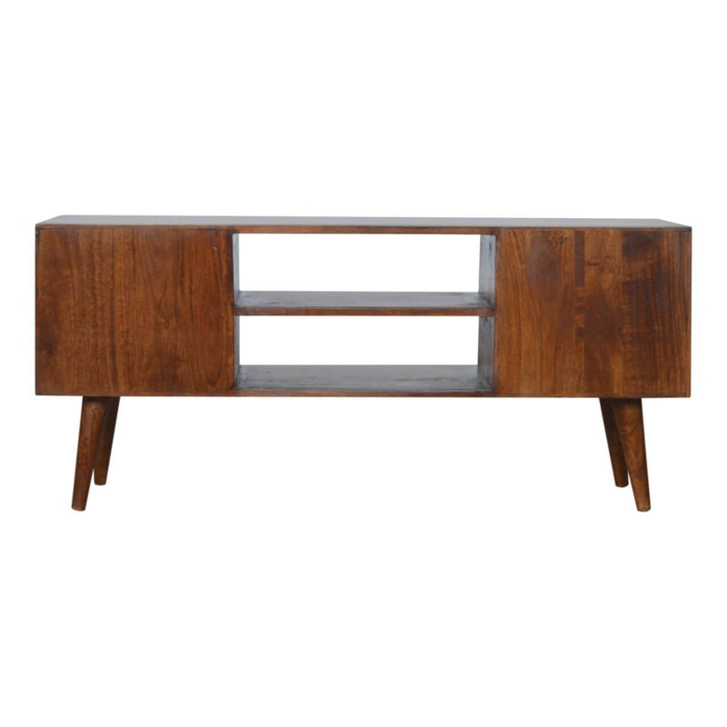 Handcrafted Gold Inlay Media Unit With 2 Drawers and 1 Door - HM_FURNITURE