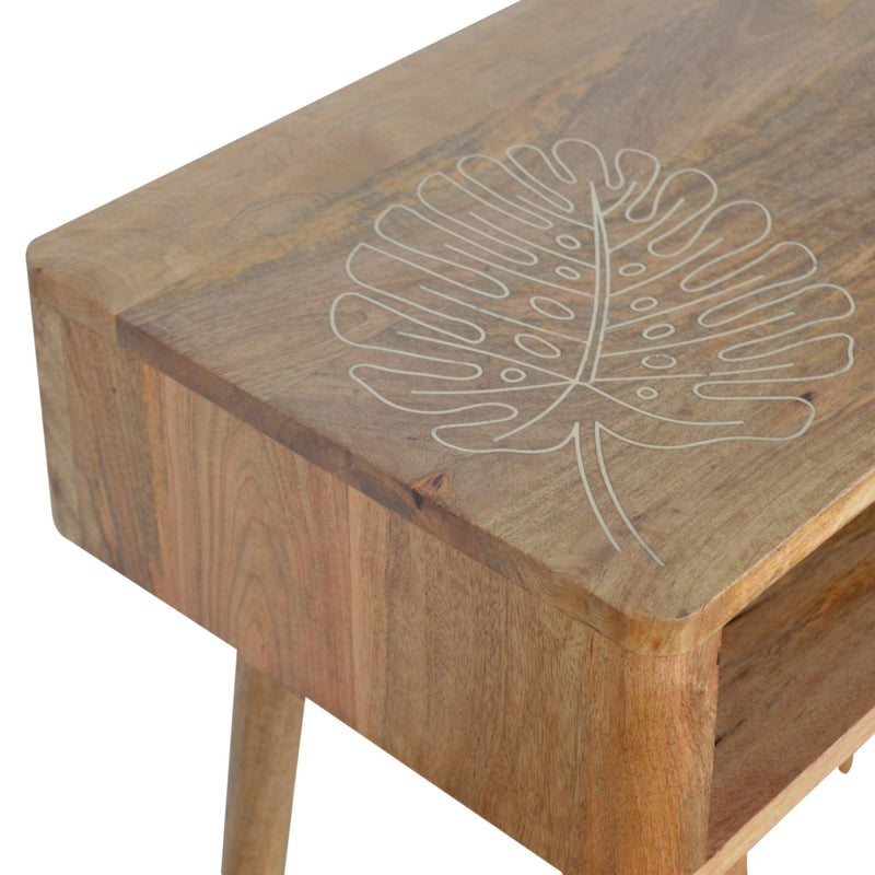 Leaf Embossed 1 Drawer Desk