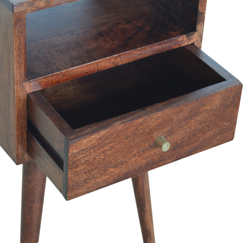 1 Drawer Petite Bedside, Cherry