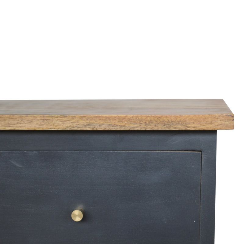 Cille - 2 Drawer Bedside, Midnight Blue