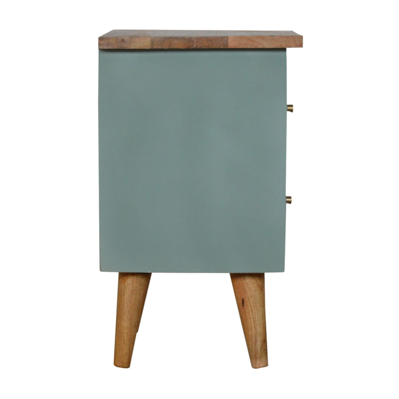 Cille - 2 Drawer Bedside, Green