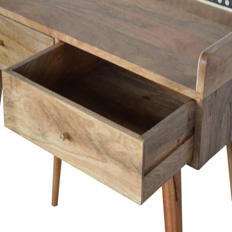 Gallery Back Bone Inlay 2 Drawers Console Table