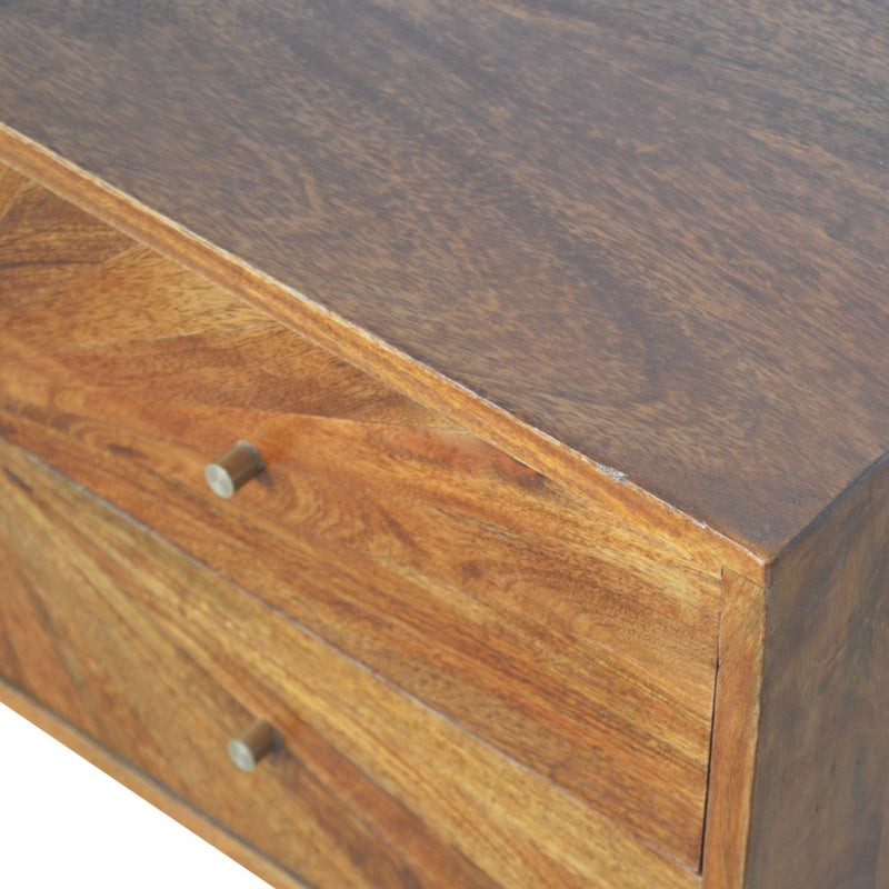 Sunrise 4 Drawers Console Table, Chestnut