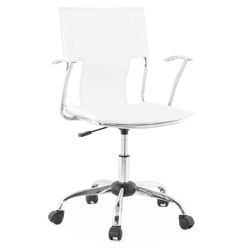 Paolo - Discreet Design White Office Chair 92 CM - HM_FURNITURE