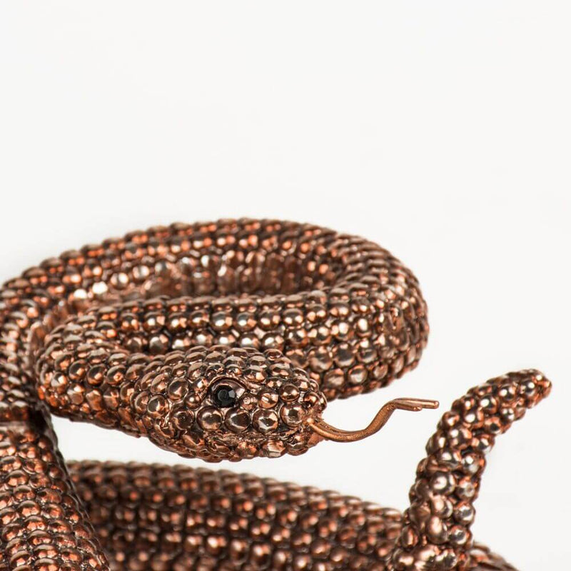Bronze Finish Rattle Snake - HM_FURNITURE