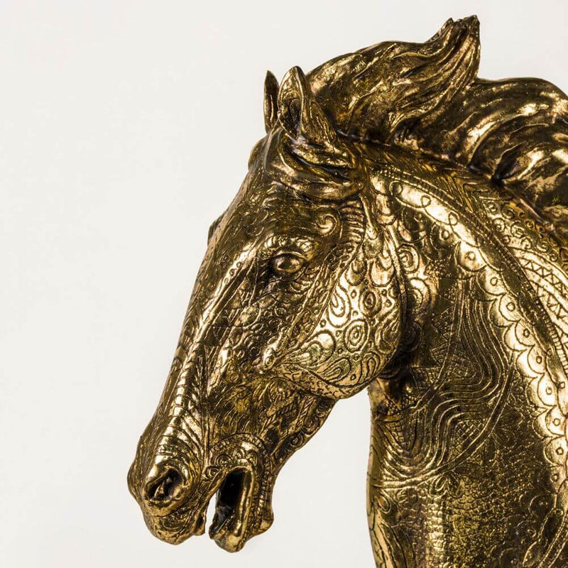 Antique Gold Brushed Horse Head - HM_FURNITURE