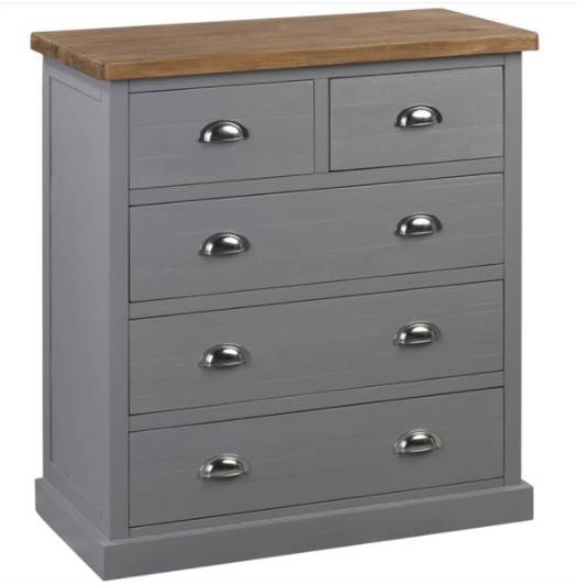 Ebbe- 5 Drawer Chest, Grey
