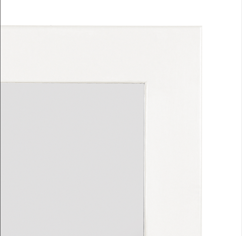 Mahogany Wood White Mirror