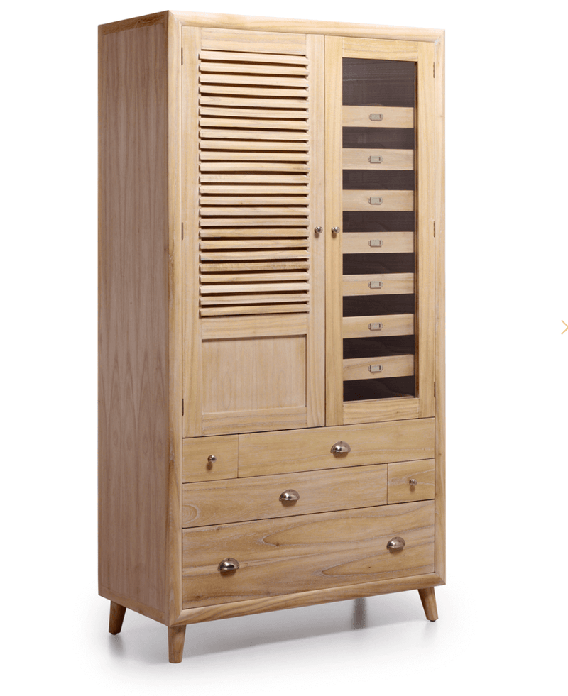 2 Doors 5 Drawers Wardrobe