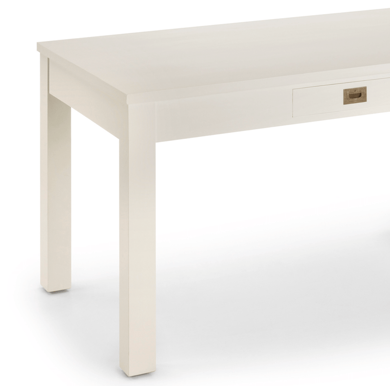 2 Drawers Dining Table, White