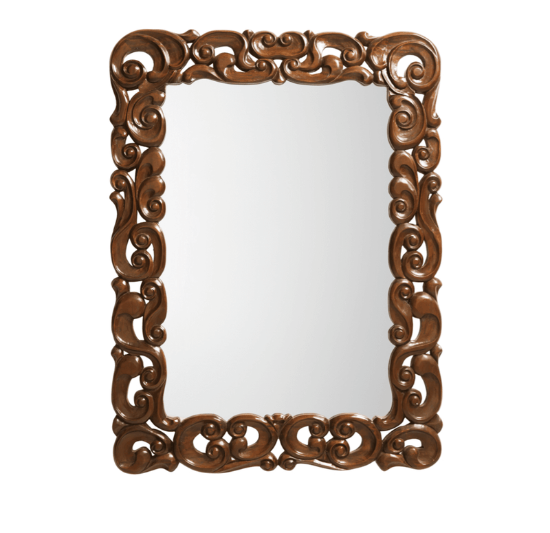 Vintage Carved Large Mirror