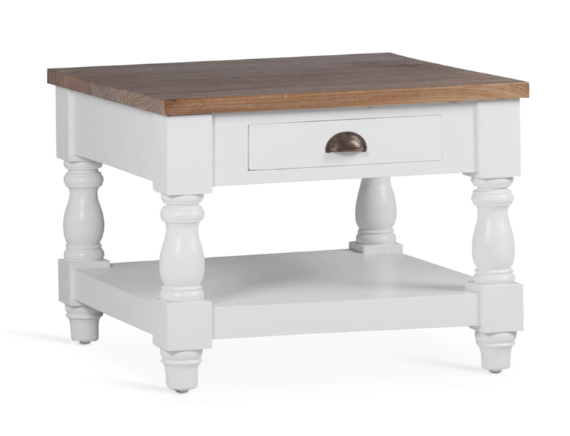 White 1 Drawer Coffee Table