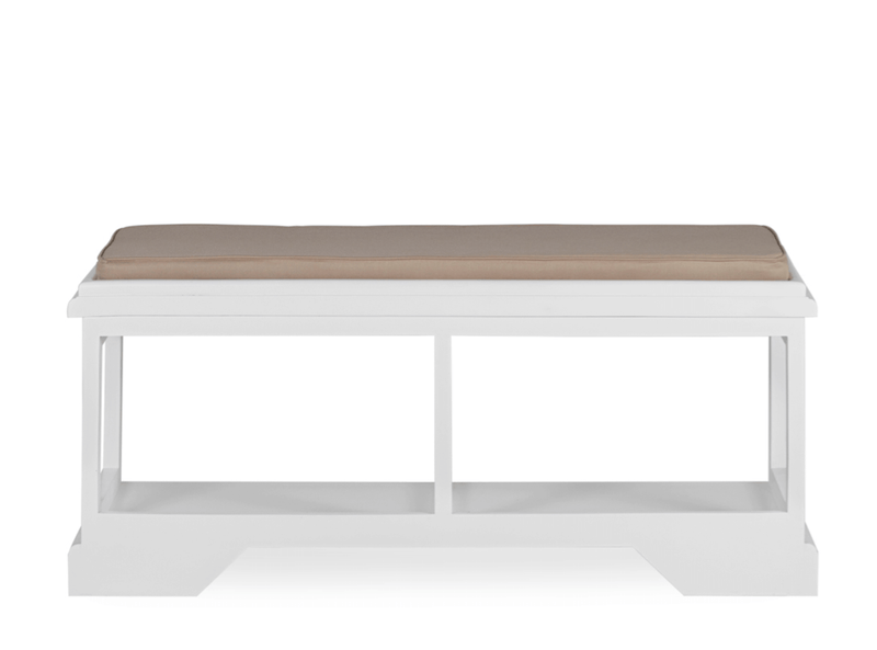 Andre - Padded Bench, White