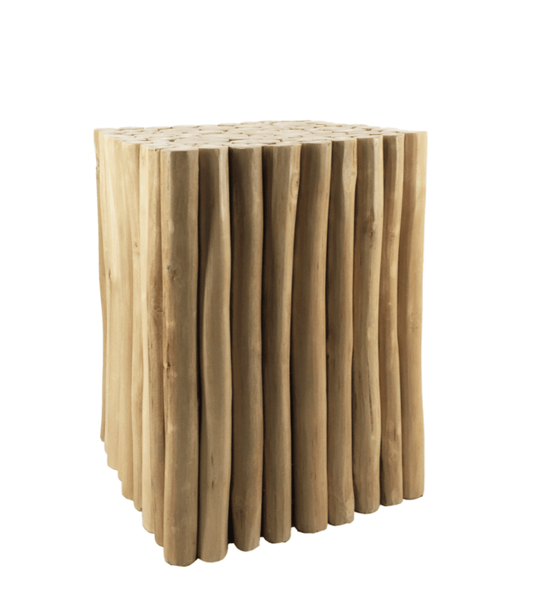 Branch Pieces Teak Stool