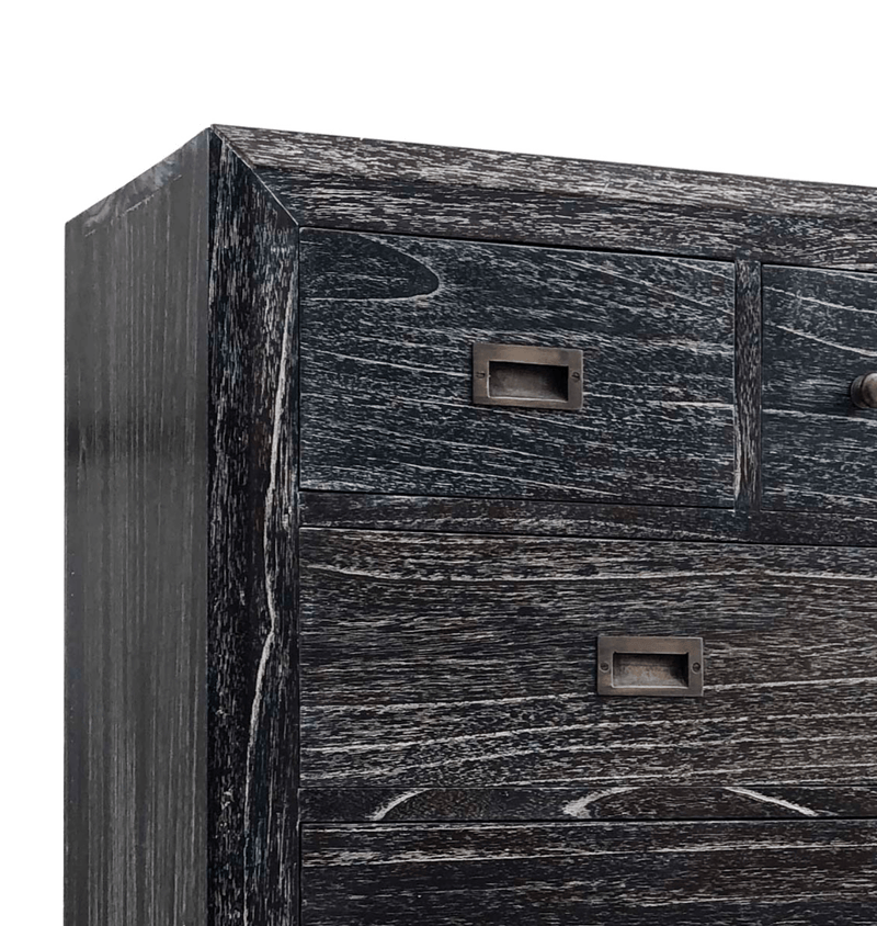 Sindorio - 6+2 Drawers Chest, Ash Black