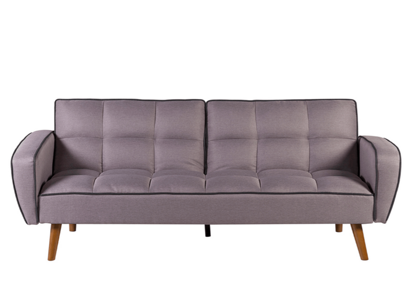California Sofa, Rubber Wood & Polyester