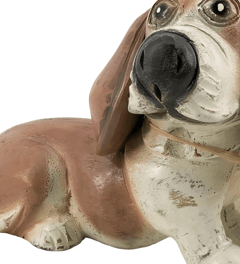 Bruno - Dog Figure, Teak Wood