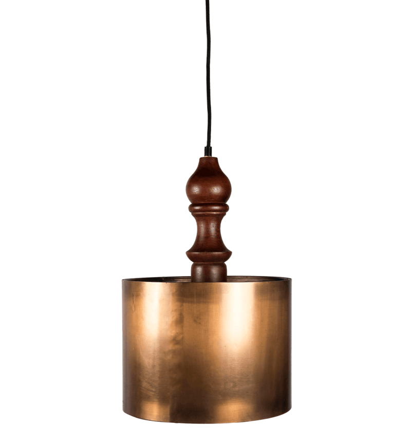 Aries - Copper Ceiling Lamp, Mango Wood & Iron