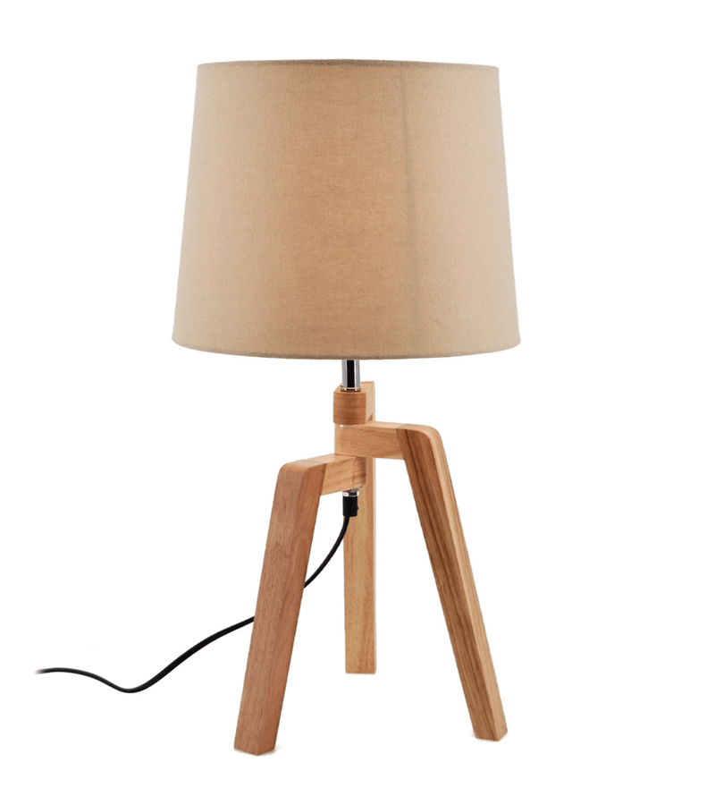 Agata - Teak Wood Table Lamp